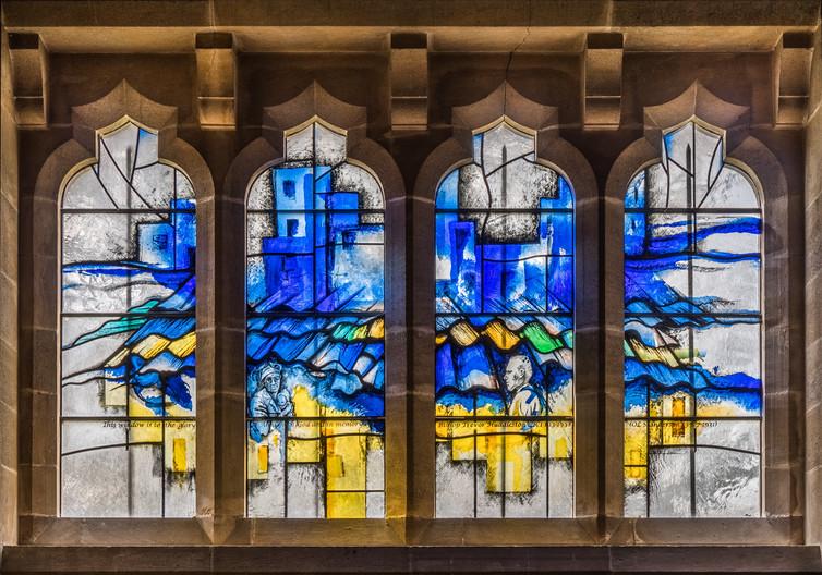 18 WINDOW IN MEMORY OF BISHOP TREVOR HUDDLESTON, LANCING COLLEGE CHAPEL by Roger Wates