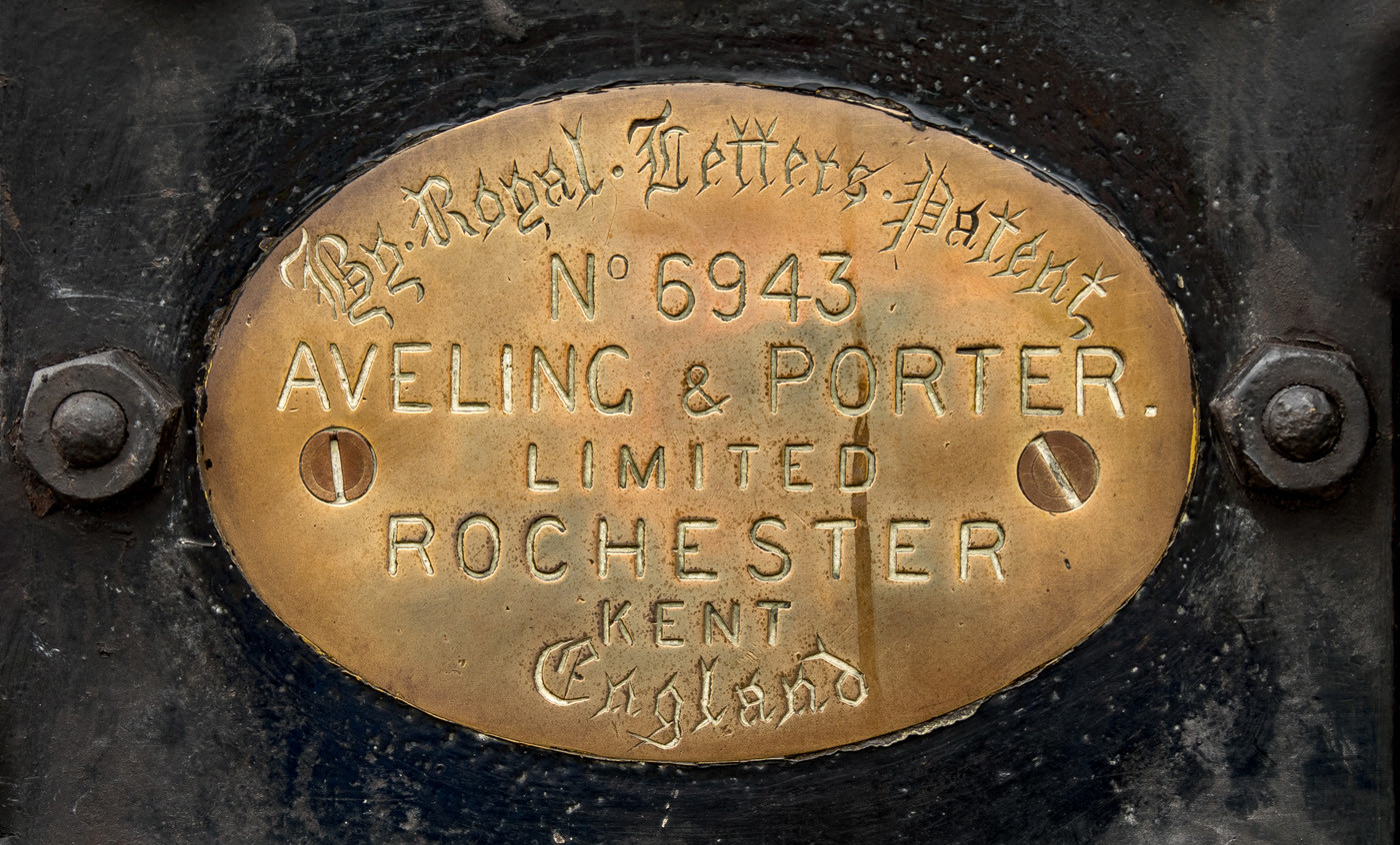 17 AVELING AND PORTER ROAD ROLLER NAME PLATE by Roger Wates