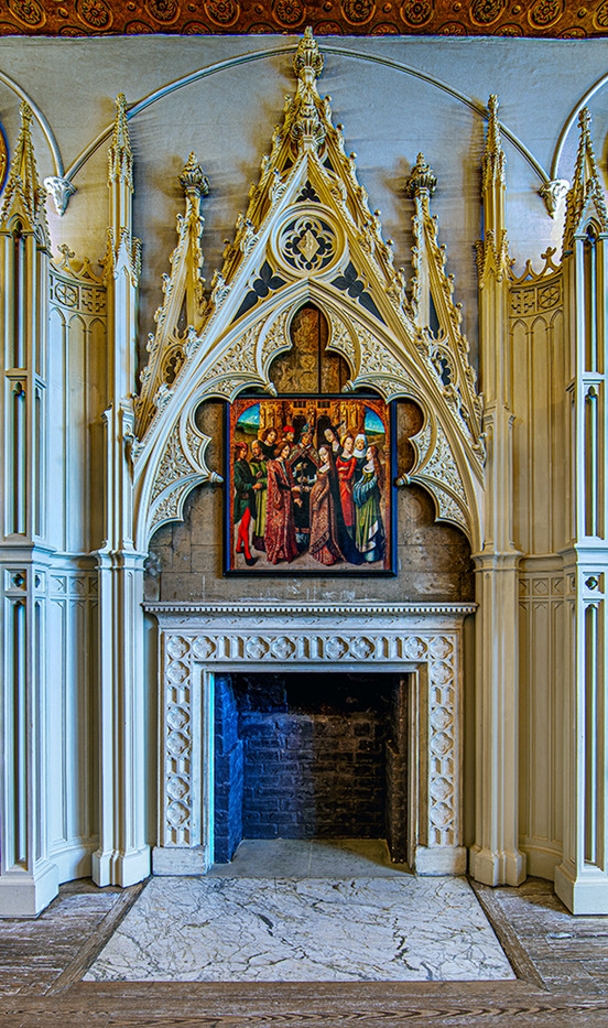 20 PRINT LIBRARY FIREPLACE AT STRAWBERRY HILL HOUSE by Philip Easom