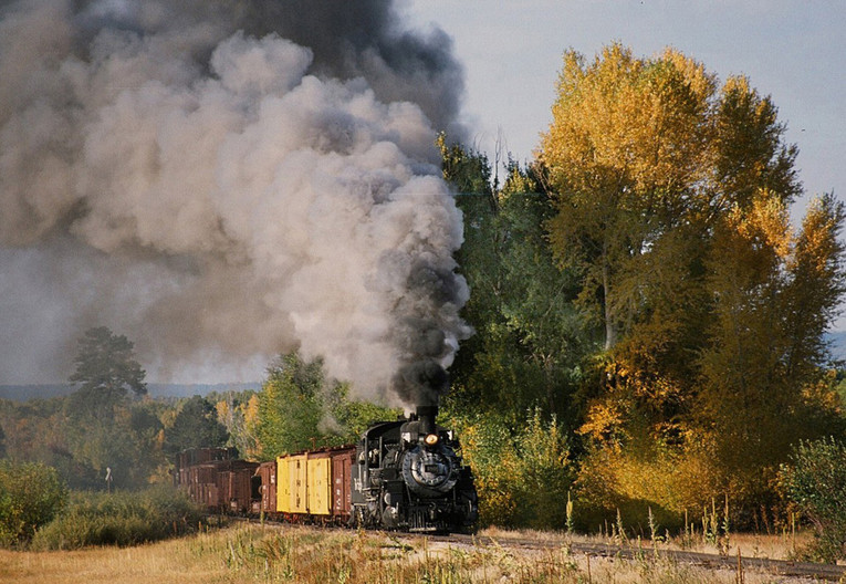 17 SILVER STEAM AND AUTUMN GOLD by Janet Brewer