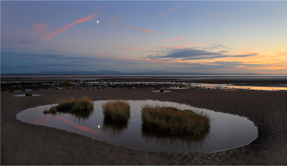 18 MOON OVER THE SOLWAY FIRTH by Dave Brooker
