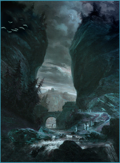 19 MOONLIGHT ON THE SACRED RIVER by Keith Evans