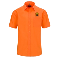 """embroidered orange blouse """"riad toyour"""""""