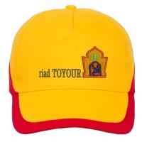casquette jaune brodée riad-toyour