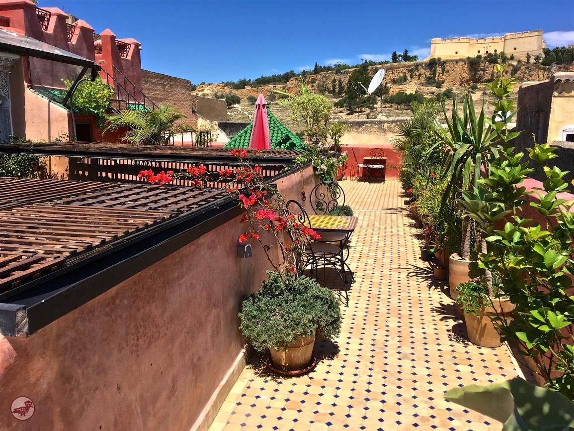 première terrasse au riad toyour