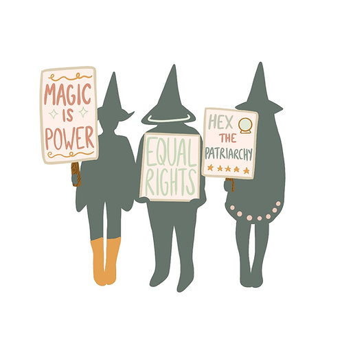 W is for Witch Sticker