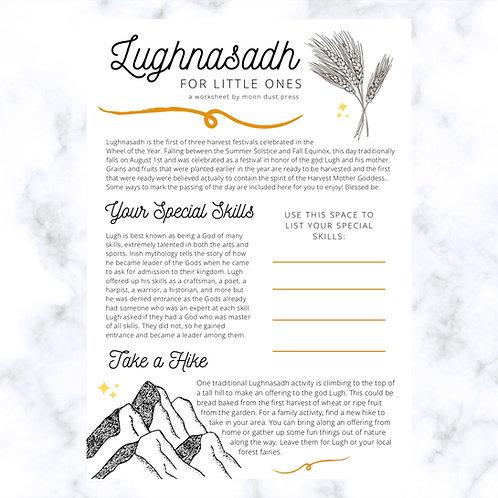 Lughnasadh // Lammas Printable Worksheet