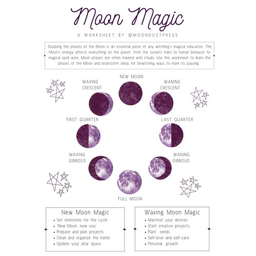 Moon Magic Worksheet ✧ Printable