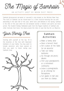 Samhain Activity Sheet copy
