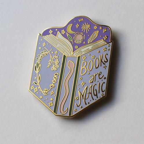 Books Are Magic Enamel Pin