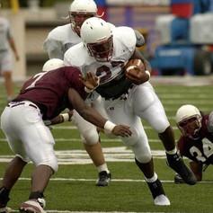 Alexis Moreland Southern Illinois University Scrimmage Brandon Jacobs