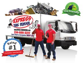 express junk removal, dumpster rental, dumpster rental alternative, trash pickup, junk pickup, youngstown ohio, warren ohio, boardman ohio