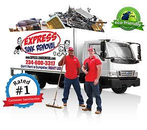 Express Junk Removal, Dumpster Rental Alternative, full service junk removal, furniture removal
