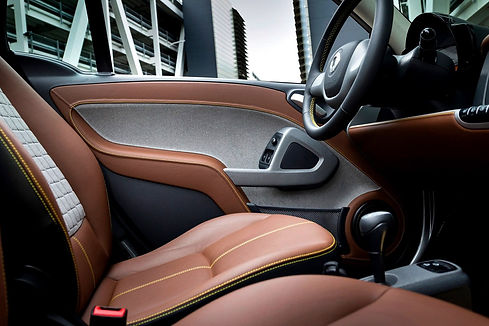 Picture of a leather car interior