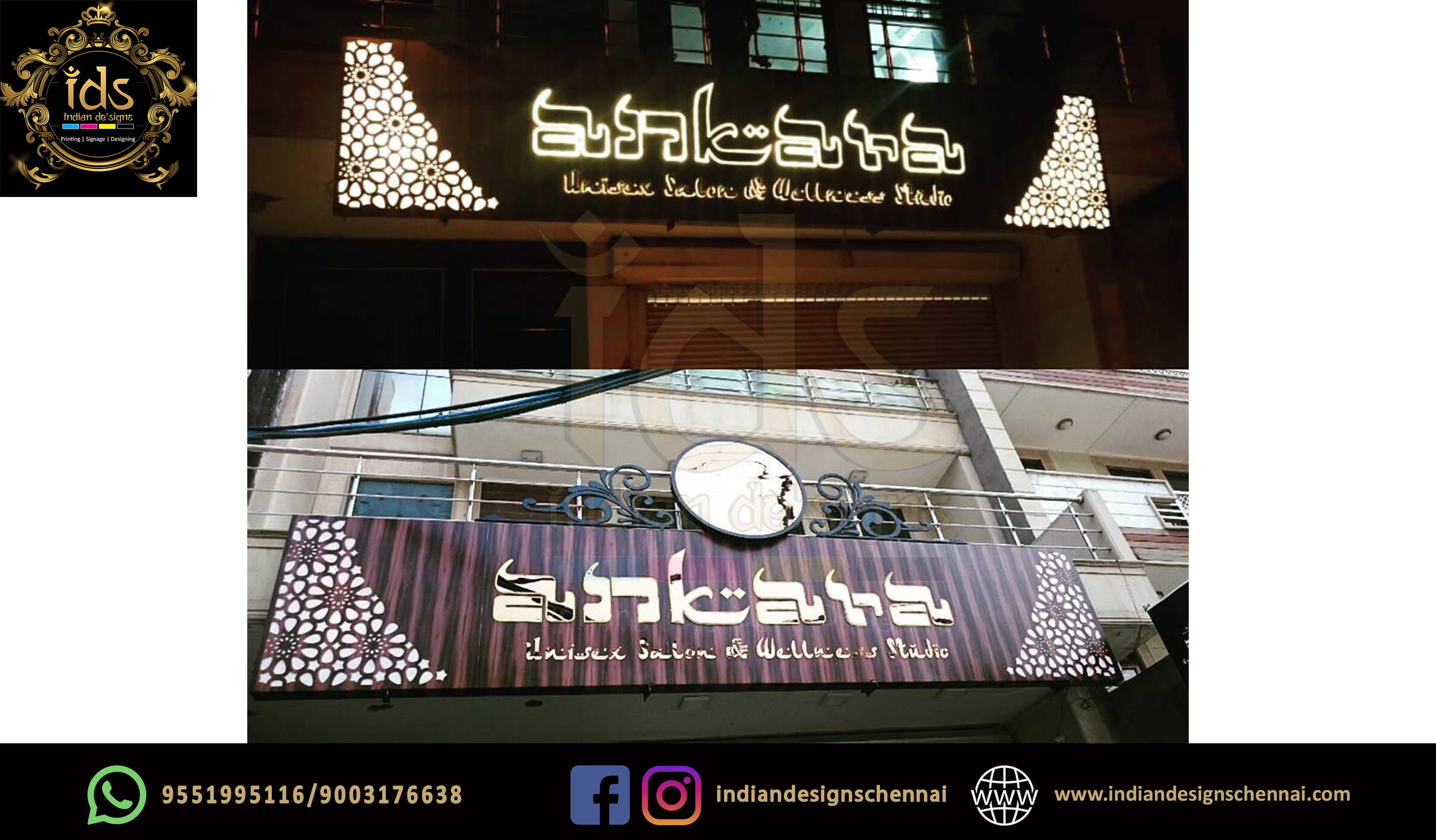 27_Acp Sign Board With Acrylic  3D Lette