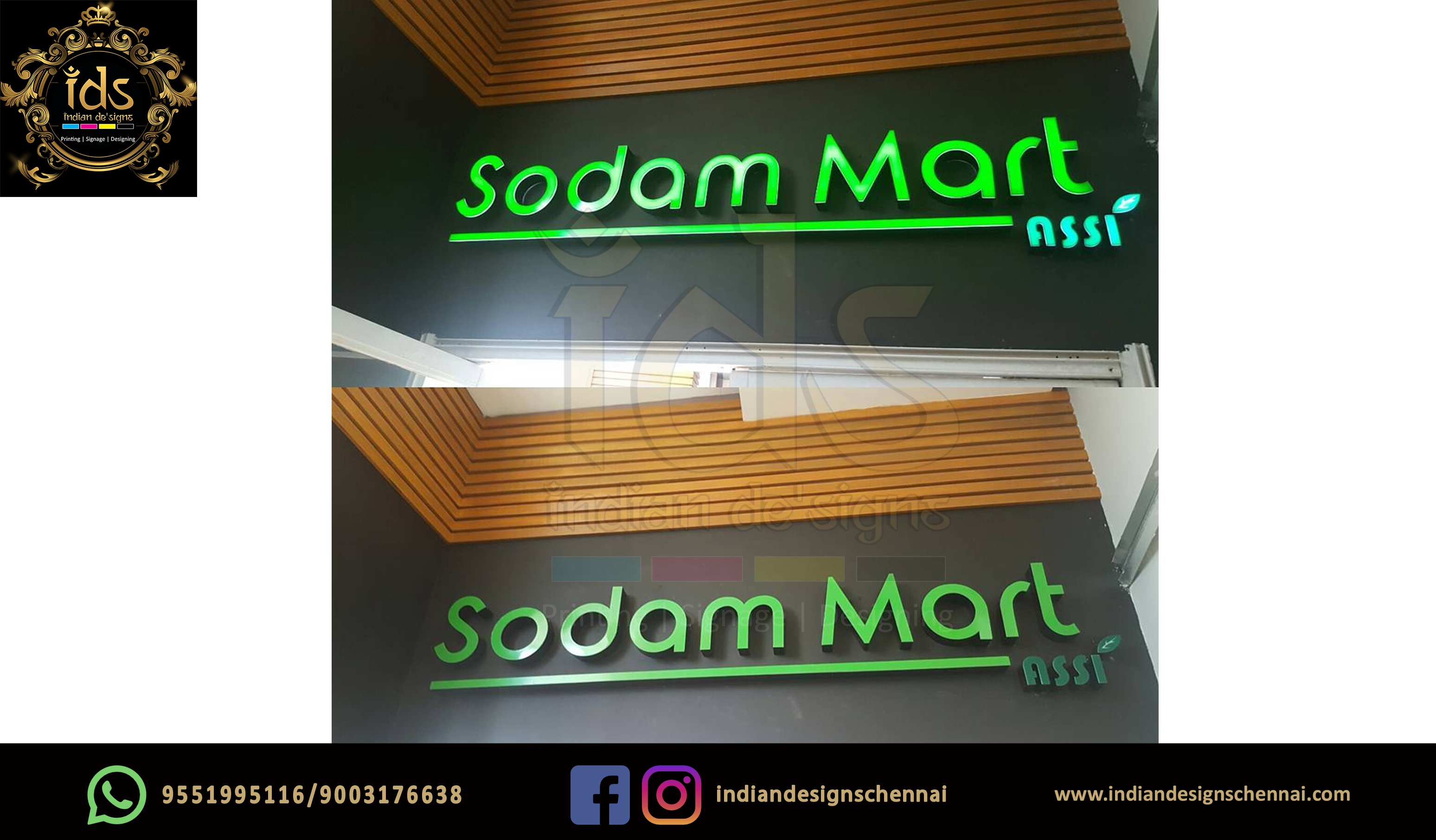 18_Acp Sign Board With Acrylic  3D Lette