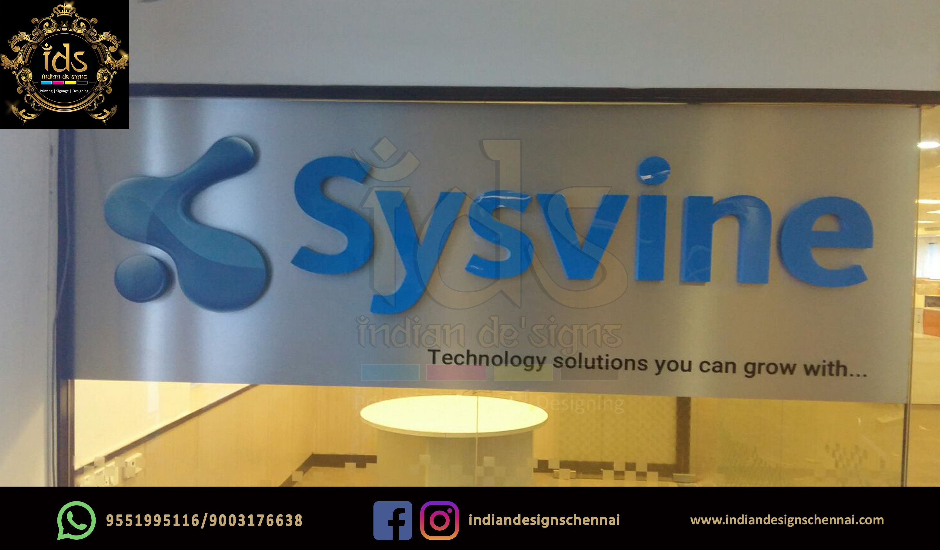 17_Acp Sign Board With Acrylic  3D Lette