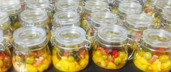 3 Fruit salad in a jar.