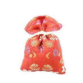 香り袋 吉兆香 金襴 煉丹色