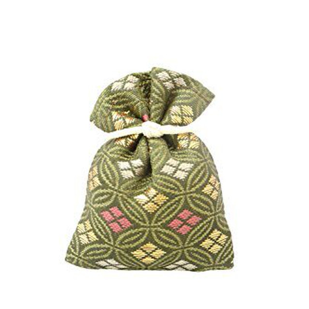 香り袋 吉兆香 金襴 鶯色