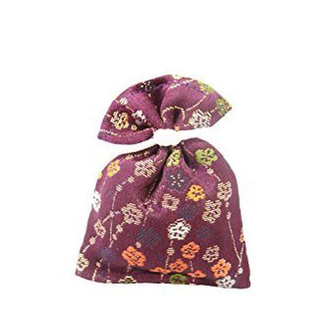 香り袋 吉兆香 金襴 紫紺色