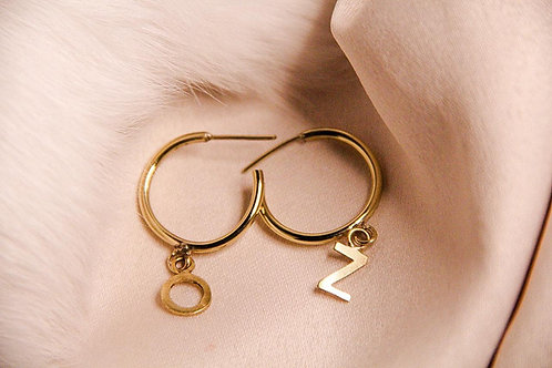 MEDIUM PERSONALIZED HOOPS