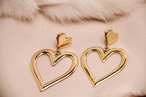 LARGE HEART EARRINGS