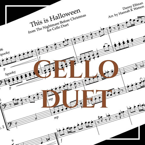 This is Halloween - Nightmare Before Xmas - Cello Duet