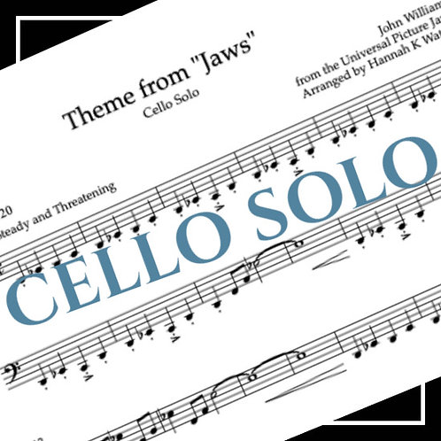 Theme from Jaws - John Williams - Cello Solo