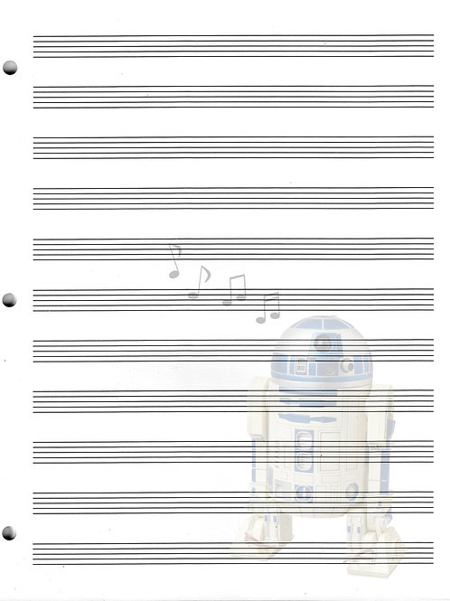R2D2 - Star Wars (2) - Blank Staff Paper