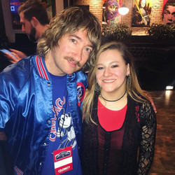 With Tom Higgenson from The Plain White T's at the 2020 Woody's Winter Warmup Chicago Cubs Event