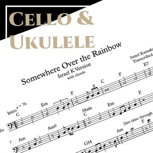Somewhere Over the Rainbow - Israel K - Cello & Ukulele