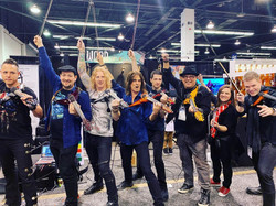 At the Mark Wood Viper Violin Booth for NAMM 2019