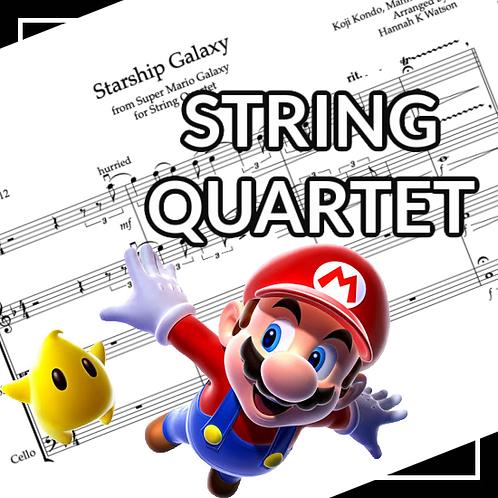 Starship Galaxy Theme - Mario Galaxy - String Quartet