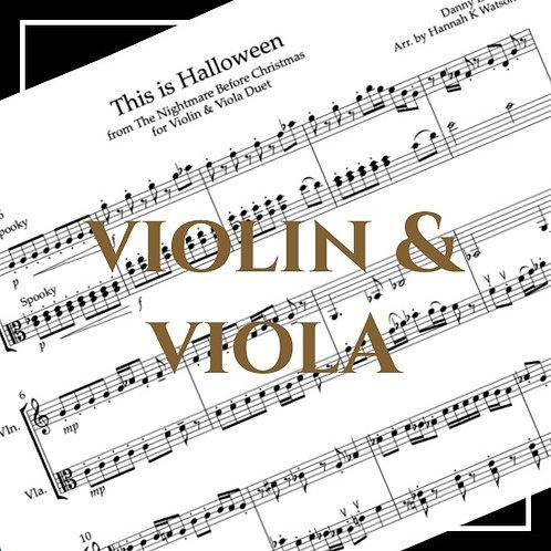 This is Halloween - Nightmare Before Xmas - Violin & Viola Duet