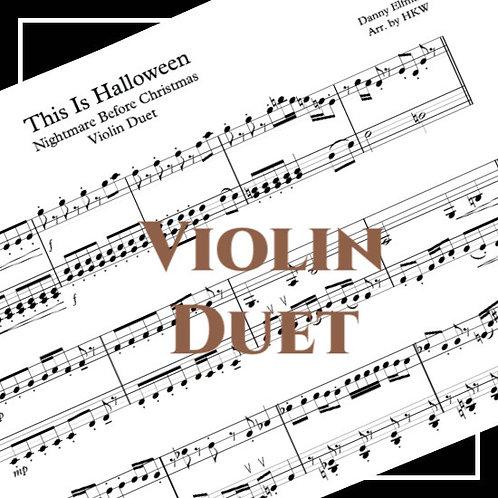 This is Halloween - Nightmare Before Xmas - Violin Duet