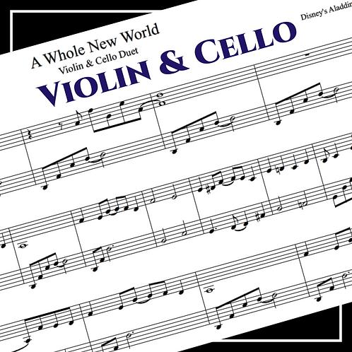 A Whole New World - Disney's Aladdin - Violin & Cello Duet