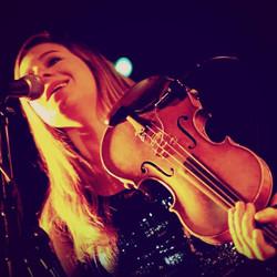 Hannah singing harmonies with Leonum (Chicago original Americana band)