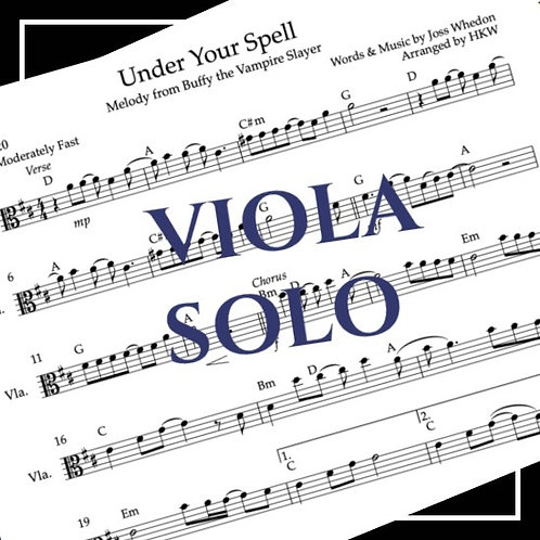 Under Your Spell - Buffy the Vampire Slayer - Viola Solo