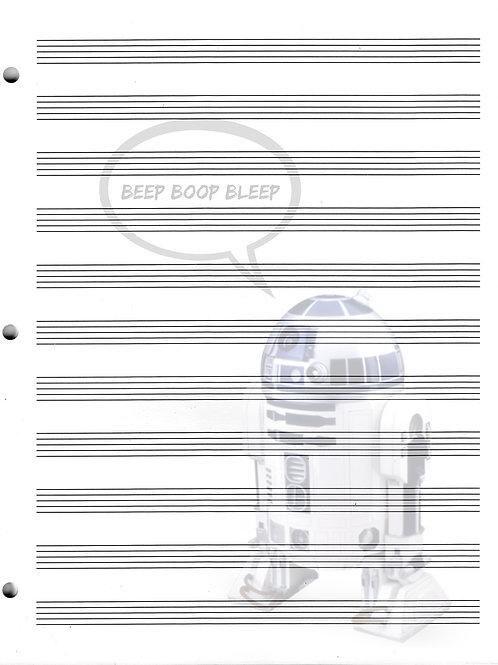 R2D2 - Star Wars (1) - Blank Staff Paper