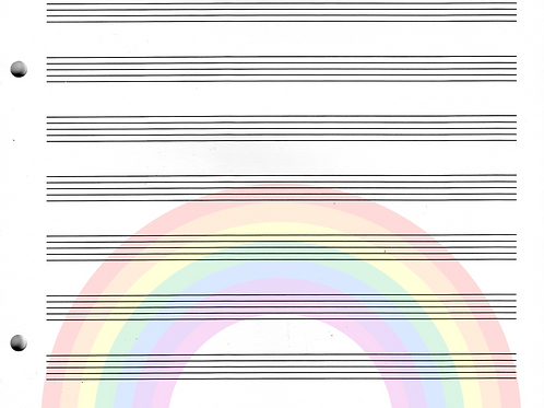 RAINBOW - Blank Staff Paper