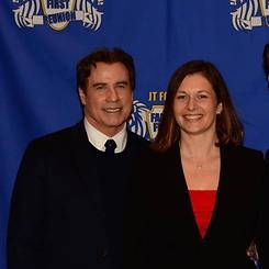 John Travolta, coach Darina Schartman