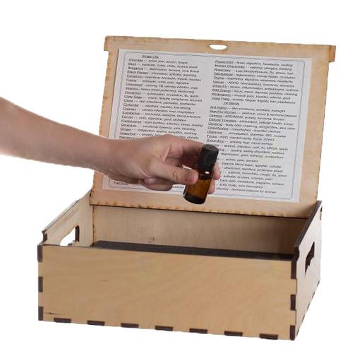 Large Natrual Wood Oil Box (Holds 63 Via