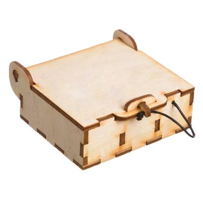 Mini Natural Wood Oil Box (Holds 3 Vials