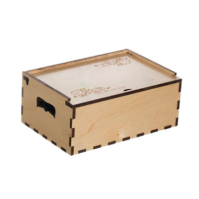 Medium Natrual Wood Oil Box (Holds 36 Vi
