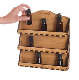 3-Shelf, Natrual Wood, Wall Display Rack