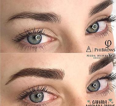 PhiShading eyebrows, Combination Brows in thunder Bay Ontario, best eyebrow shape design, Long lasting eyebrows