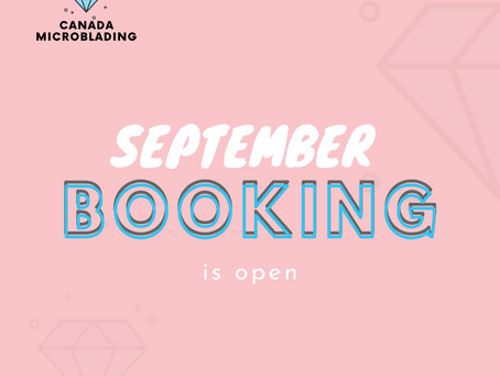 September Booking is open