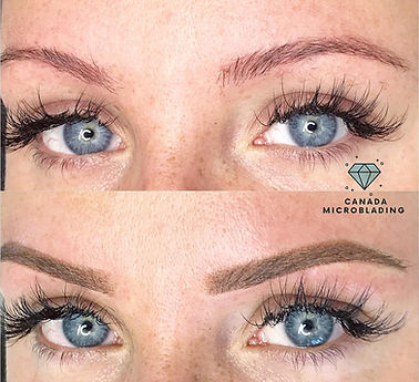Eyebrow tattoo coverup, eyebrow tattoo correction, ombre powder brows, Ombre tattoo