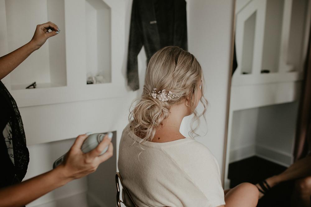Wedding hair trial